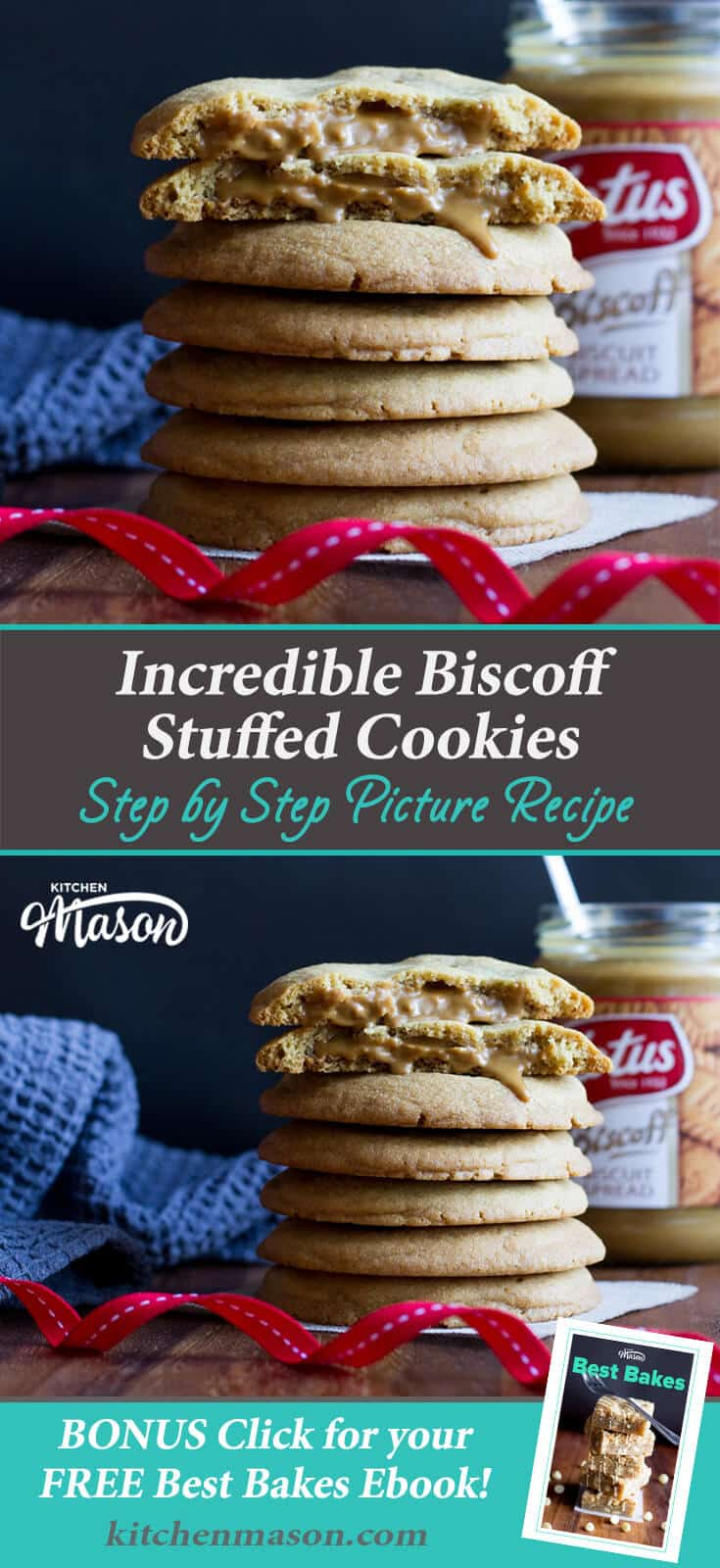 Easy Cookie Recipes | Easy Biscoff Recipes | Biscoff Stuffed Cookies