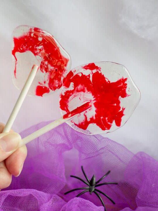 Bloody Halloween Lollipops   Easy Halloween Recipes   Halloween Treats