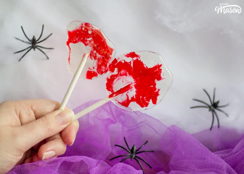 Bloody Halloween Lollipops | Easy Halloween Recipes | Halloween Treats