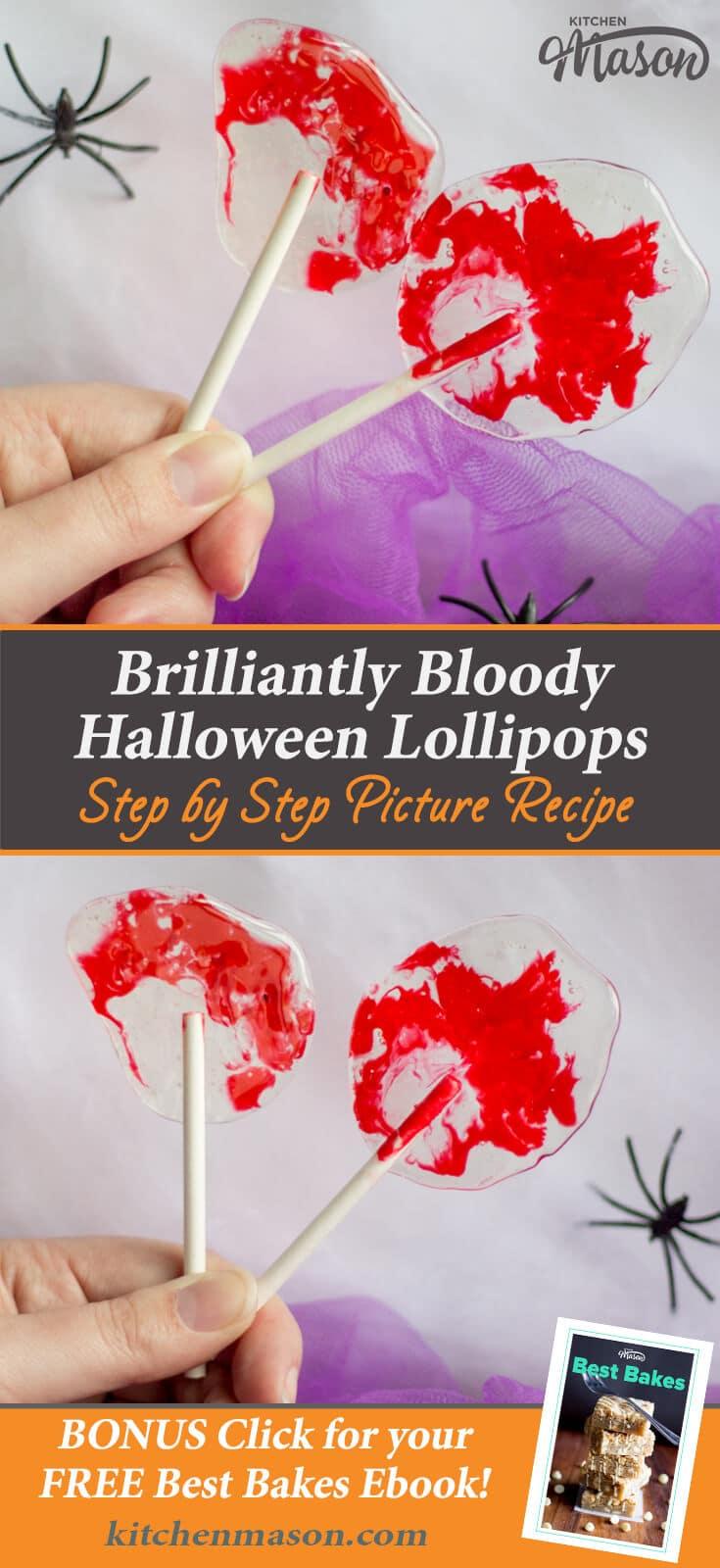 Bloody Halloween Lollipops | Easy Halloween Recipes | Halloween Treats