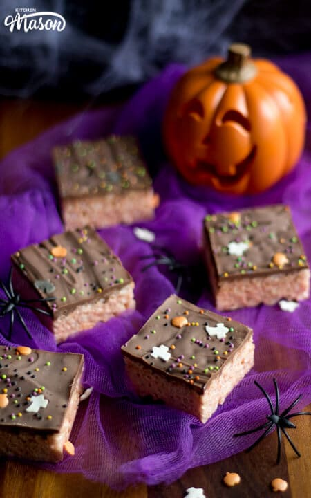 Halloween Rice Krispie Treats | Easy No Bake Halloween Recipes