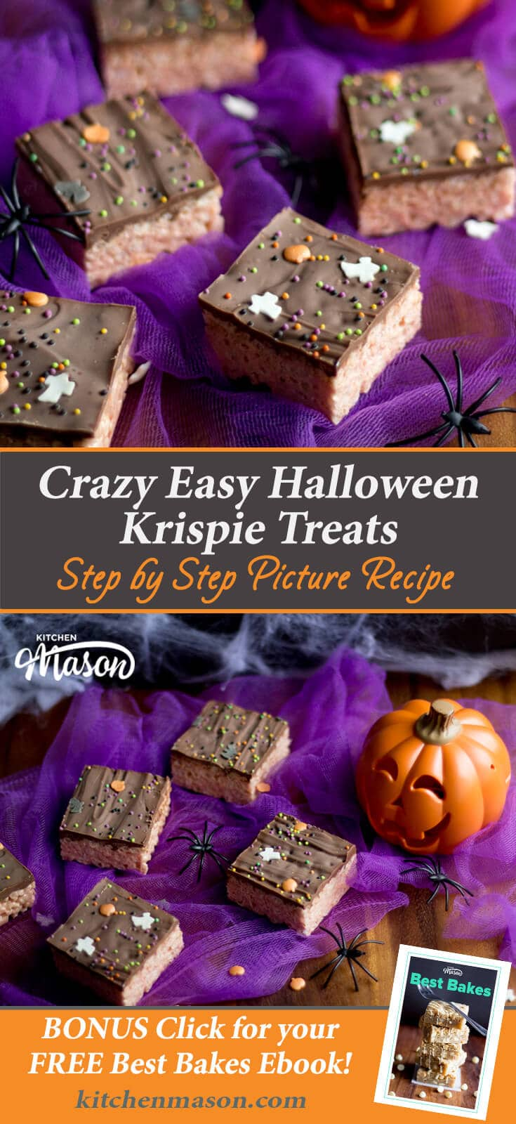 Halloween Rice Krispie Treats | Easy No Bake Halloween Recipes