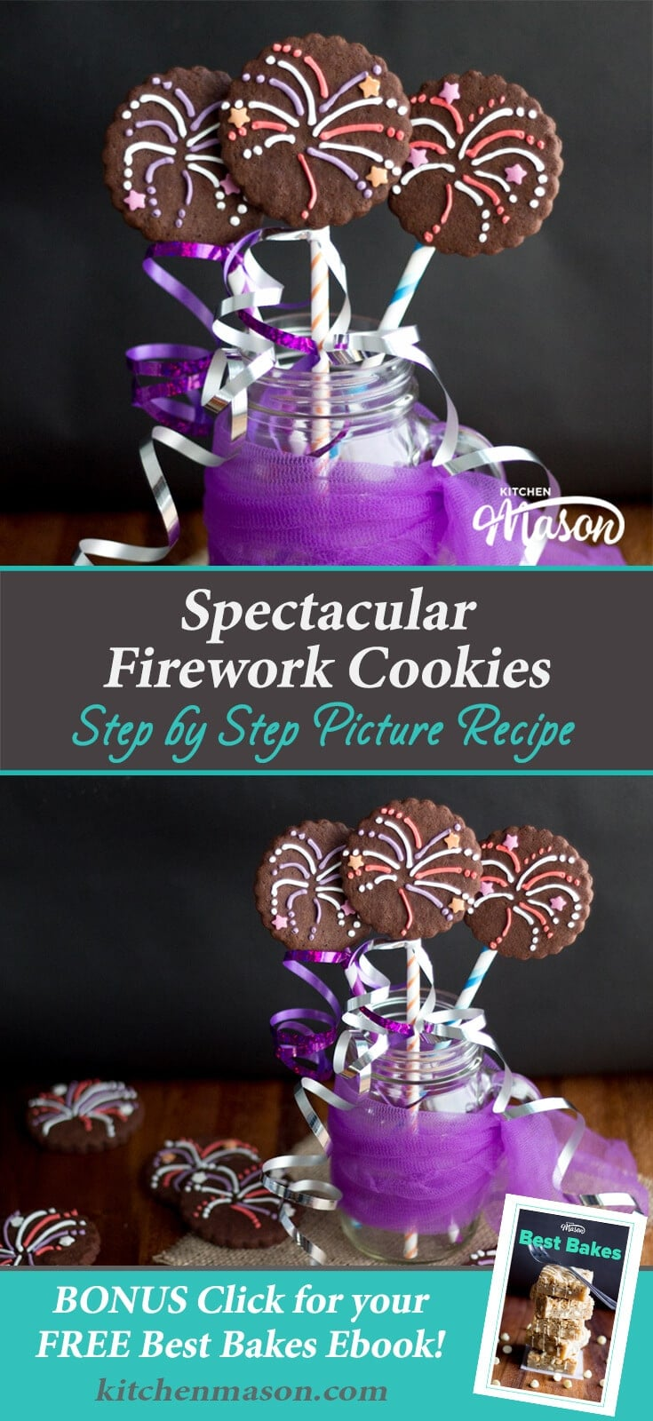 Firework Cookies | Easy Bonfire Night Recipes | Easy Iced Biscuit Recipes
