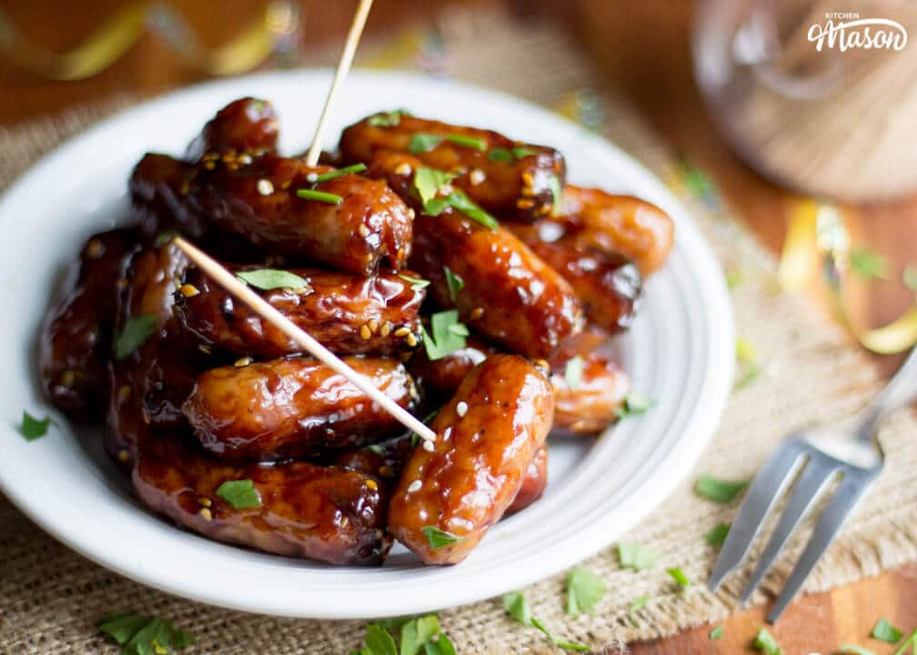 Sticky Teriyaki Chipolata Bites | Easy Party Food Recipes | Christmas