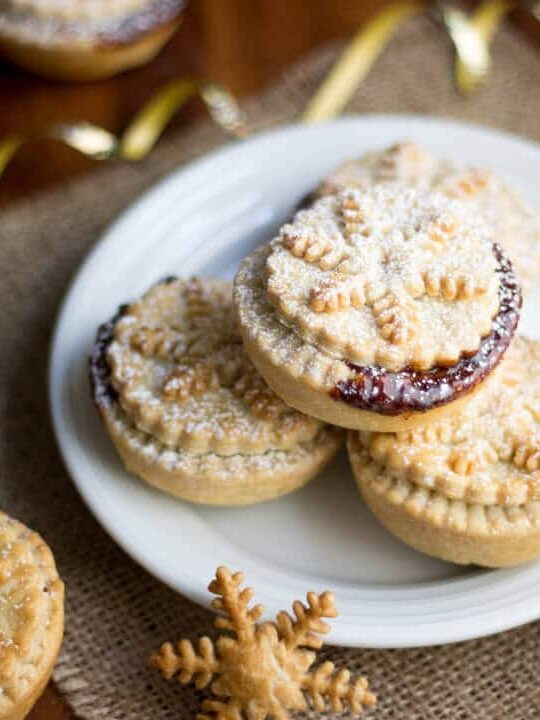 homemade mince pies on a plate