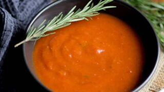 Balsamic Roasted Red Pepper & Tomato Soup Recipe