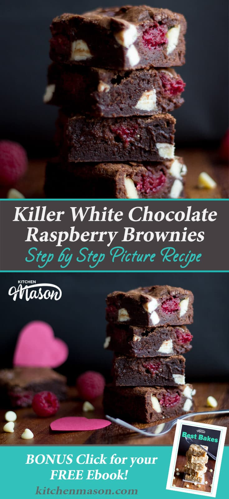 White Chocolate Raspberry Brownies Recipe | Easy Valentines Recipes