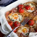 Tomato & Parma Ham Breakfast Egg Bake Recipe | Easy Breakfast Recipe