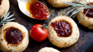 Cheesy Rosemary & Thyme Thumbprint Cookie Recipe