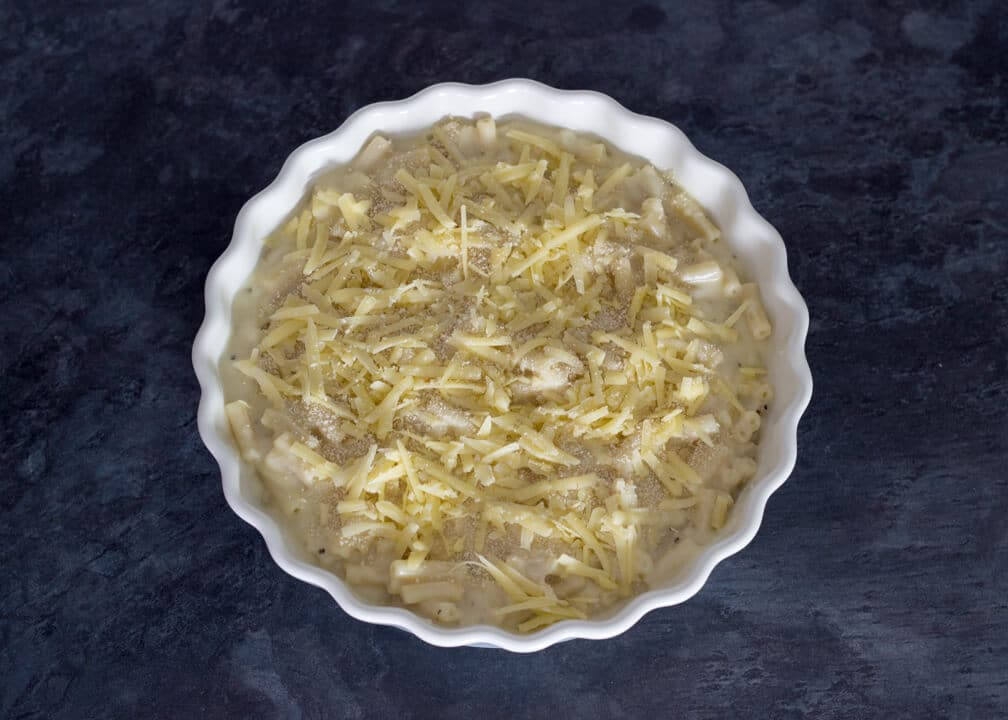 Macaroni Cheese in a dish