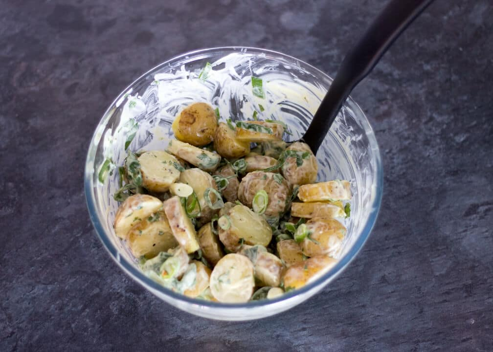 Easy Potato Salad in a Bowl