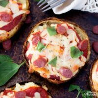 AMAZING Pizza Loaded Potato Skins Recipe