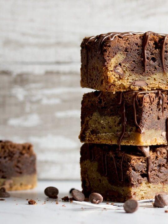 Brookie Recipe - Brookies in a stack