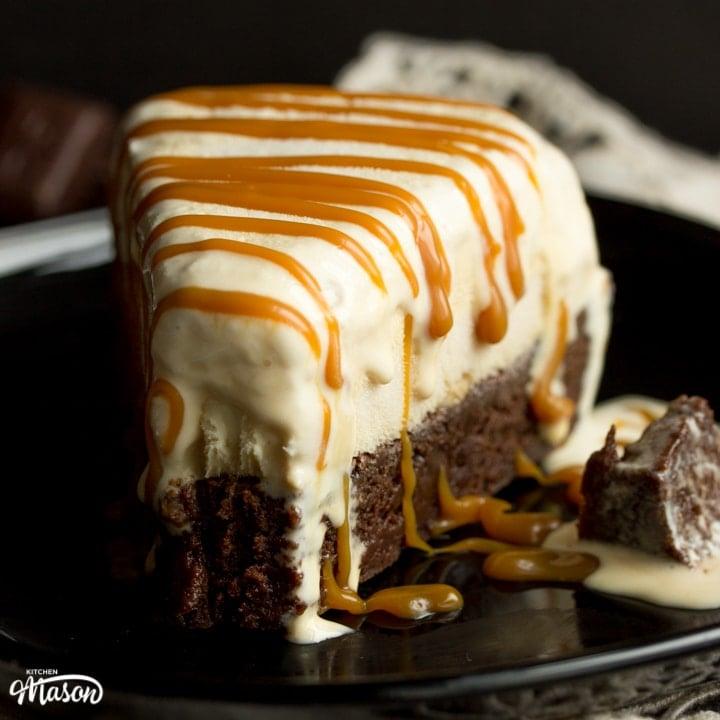 Salted Caramel Brownie Ice Cream Cake Recipe