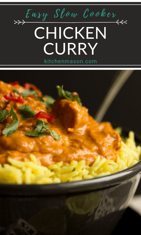 b7ec04ae9294 Slow cooker chicken curry in a bowl with rice