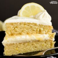 The Best EVER Dairy Free / Vegan Lemon Cake