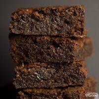 Perfect Fudgy Vegan Gluten Free Brownies