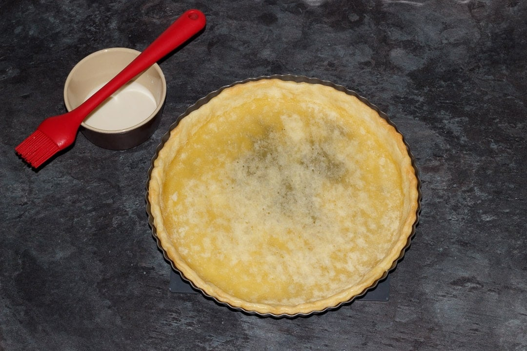 part baked shortcrust pastry case in a fluted tart tin