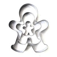 Gingerbread man set of 3, 3 cm, 6.5 cm, 10 cm cutter, stainless steel cutter, ginger man