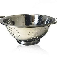 Stainless Steel Collection Twin Handled Stainless Steel Colander 23 cm By Ckone