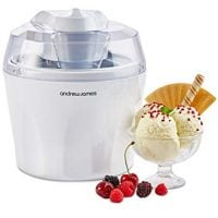 Andrew James Ice Cream Maker Machine | Makes Delicious Soft Ice Cream | Detachable Mixing Paddle | 1.5L | Voted Best Buy by Which? Magazine