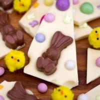 Easy White Chocolate Easter Bark