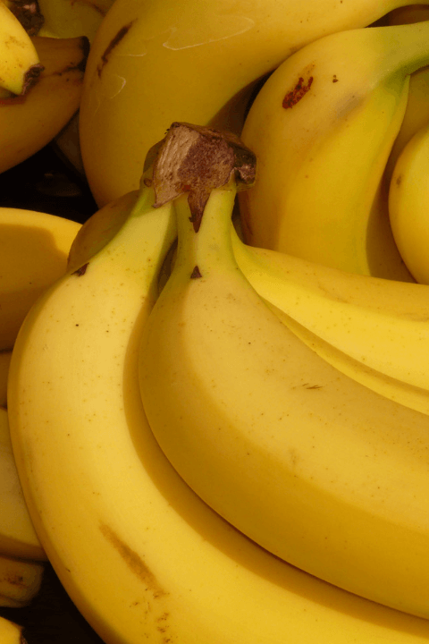 bunches of ripe bananas