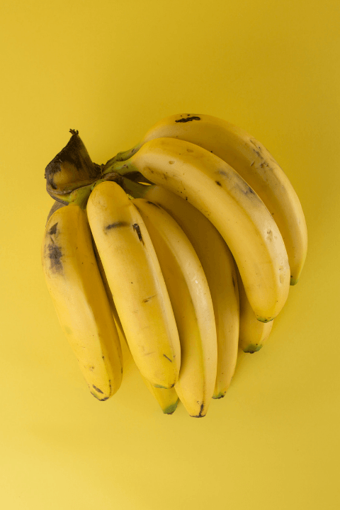 a bunch or ripe bananas