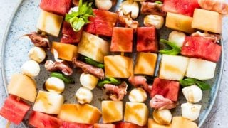 Easy Watermelon Skewers With Prosciutto