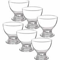 6 Short Stemmed Glass Dessert Bowls