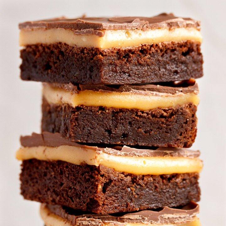 CRAZY Indulgent Millionaire Brownie Bars