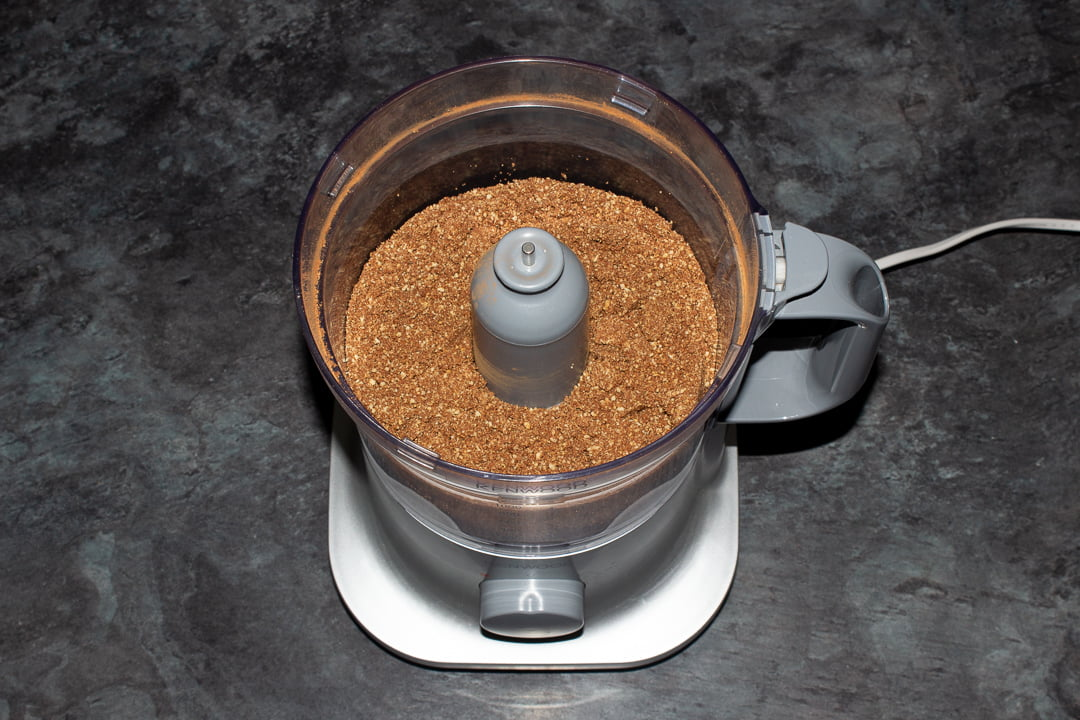 Golden Oreos and cocoa powder blitzed together in a food processor